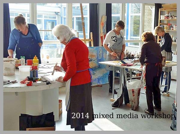 Nieuws open atelier weekend van sunny en petra op 7 en amstelveen - Deco schilderij gang ...