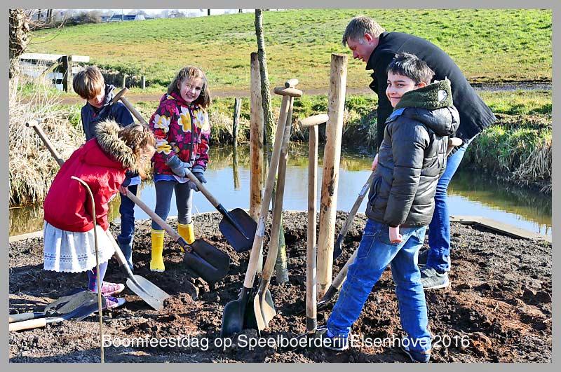 Nieuws 59ste nationale boomfeestdag op speelboerderij e for Tuinontwerp door studenten